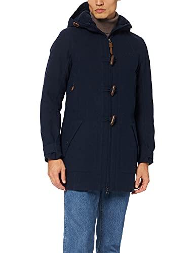 Schöffel Bregenz1 - Abrigo de lana impermeable y cortavientos con bonito aspecto jaspeado, cálido chaqueta de invierno con lana natural para mujer, Mujer, 12446, azul marino, large