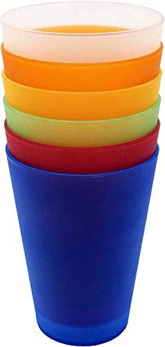 FD Plastik Trinkbecher │ 30 Stück │ 0,4 l │ Mix Paket │ mehrere Farben │ stapelbar │ Party-Becher │ Mehrweg-Becher │ Kinder-Becher