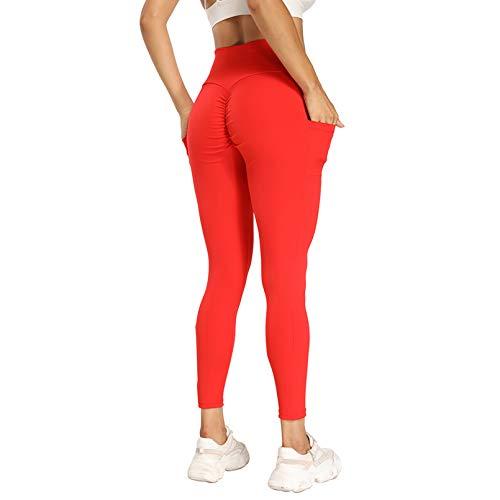 Iuulfex Workout Leggings Yoga Pants Butt Lifting Leggings for Women Anti Cellulite Booty Scrunch Leggings High Waist