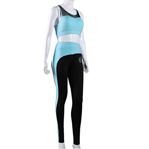 Women's Yoga Sport Sets Activewear Tank Top/Bra and High-Waist Leggings 2 Piece Sets (Large)