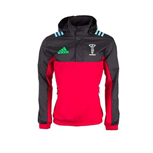 adidas Herren Harlequins All Weather Jacke, Redbea/Black/White, S