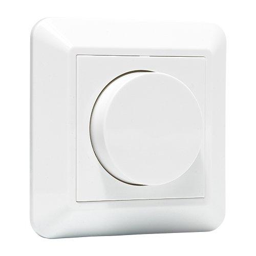 LED dimmer compleet | dimmer voor LED-lampen & inbouwspots/faseafsnijding dimmer | 1-350W / inbouw/traploos/triac/knop / 230V / wit
