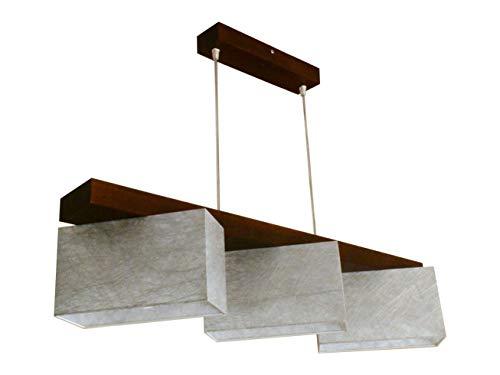Hängelampe Hängeleuchte Milano B3 MIX Lampe Leuchte 3 flammig verschiedene Varianten (Marmor-Silbern)