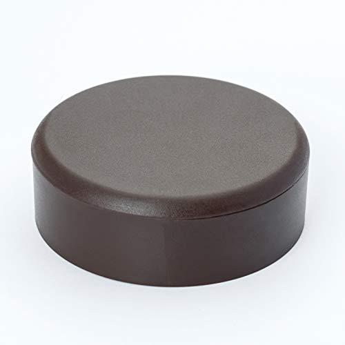 Preisvergleich Produktbild Verteilerdose PVC silber Baldachin Deckendose Rosette Abzweigdose Abdeckungl (braun)