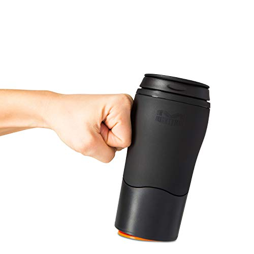 Mighty Mug Solo, Double Wall Plastic 12oz Travel Mug featuring No Spill Smartgrip Technology - Black