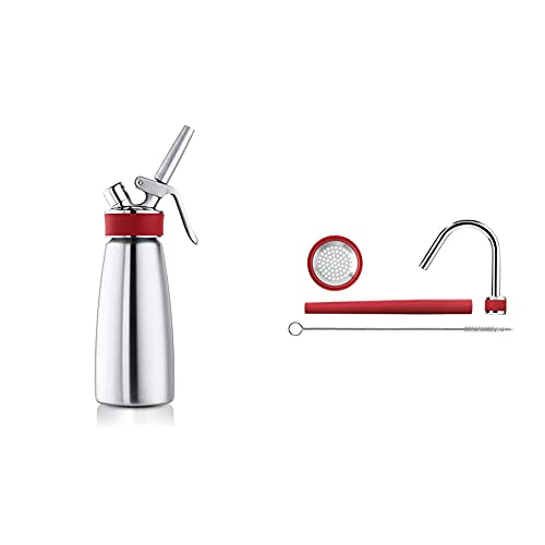 iSi 1603 Spray Per Panna Montata & 2062600 Rapid Kit infusione rapido Silicone/Acciaio Inossidabile