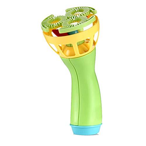MMLC Seifenblasenmaschine Kinder Spielzeug Bubble Gun Seifenblasenpistole Inkl. Kinderspielzeug Stand-Alone Elektrische Bubble Maschine Ohne Bubble Liquid Gelegentliche Farbabgabe (Green)