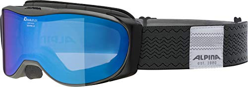 ALPINA BONFIRE 2.0 Skibrille, Unisex– Erwachsene, anthracite, one size