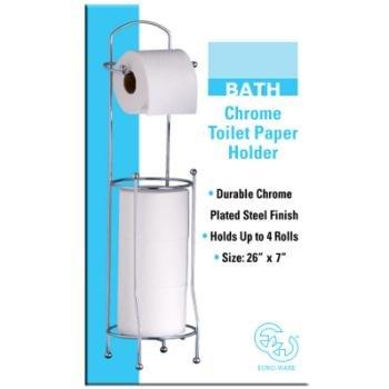 Chrome Toilet Paper Holder single pack