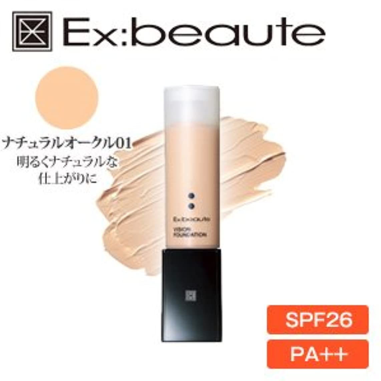 流体解釈的十分にEx:beaute (エクスボーテ) ビジョンファンデーション リキッドマットタイプ ナチュラルオークル01