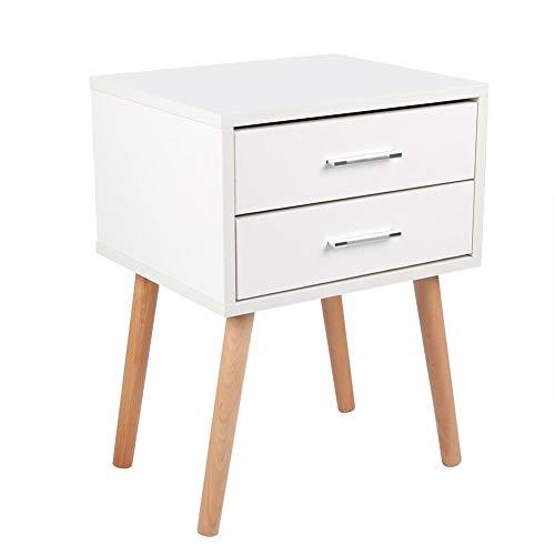 KXIUOA Bedside Table,Storage Cabinet,Nightstand with Drawers,Stable Bedside Table with Two Drawers Floor Cabinet Bedroom Nightstand Storage Organizer
