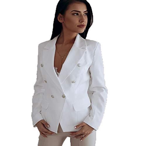 Youth ever dames blazer getailleerd losse pak Cardigan dun elegant licht Bolero jas blazer trenchcoat geel M