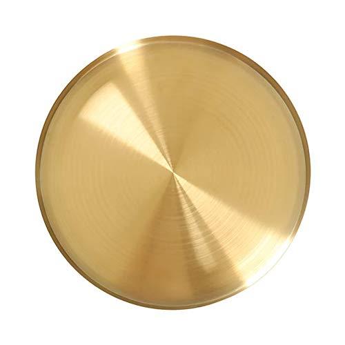 Magiin Servier Tablett Getränke Organizer Tablett Gold Dekorative Servierplatte für Bar Küche Badezimmer Edelstahl (20cm)