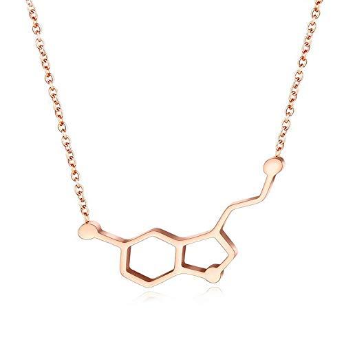 St.mary Acero de Titanio Amor Collar de dopamina molécula d