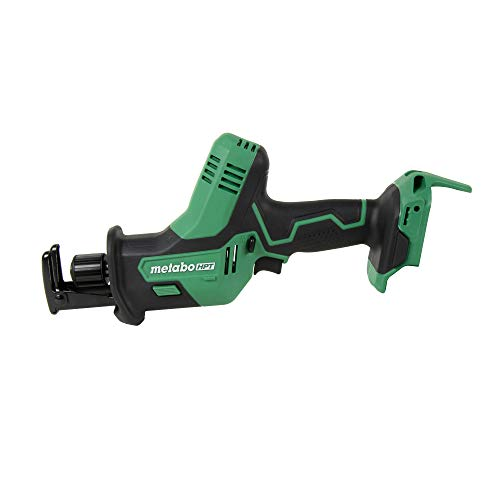 Metabo HPT 18V One Handed Reciprocating Saw | 3,200 Strokes Per Minute | Accepts Reciprocating or Jig Saw Blades | Lifetime Tool Warranty | CR18DAQ4