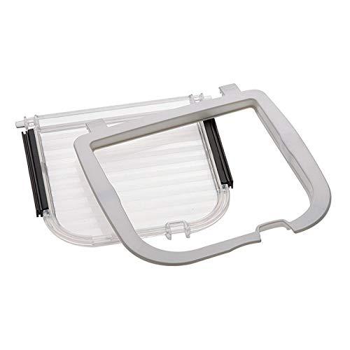 Ferplast 72122100 Ersatzklappe Kit 406 für Swing 5 und 7, weißer Windstopper, transparente Tür