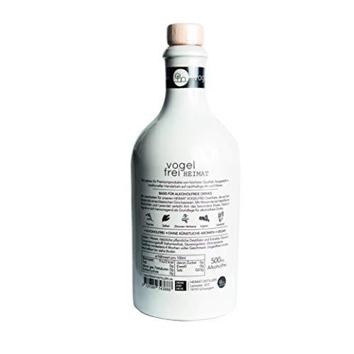 VOGELFREI alkoholfreie Gin Alternative mit 21 fruchtigen Botanicals aus der HEIMAT Destille wie Zitronenverbene, Thymian, Wiesensalbei und Wacholder - Handcrafted (1 x 0,5l) - 3