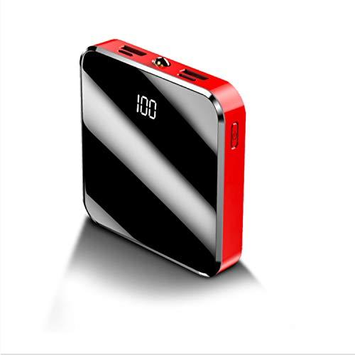 QIANYAC 20000 Mah Power Bank Cargador Portátil 2 USB Pantalla De Espejo Mini Power Bank 20000mah Batería Externa para Teléfono Móvil Inteligente