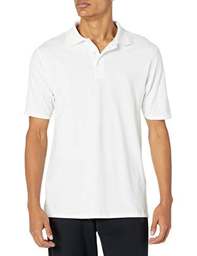 Hanes mens X-Temp Performance Polo Shirt,White,Large