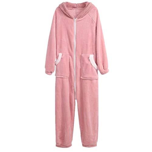 AYDQC Warmer Onepiece Mit Kapuze Bunny Pyjama Jumpsuit Frauen Cartoon Tier Ohr...