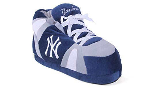 NYY01-1 - New York Yankees - Small - ComfyFeet by FOCO Men's and Womens Sneaker Slippers