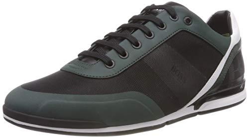 BOSS Herren Saturn_Lowp_act3 Sneaker, Grün (Bright Green 320), 44 EU