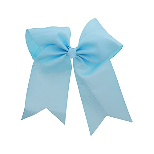Sky Blue Jumbo Bow Clip with Tails