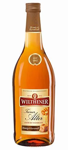 WILTHENER Feiner Alter Likör mit Weinbrand 30% vol., Liquere mit Honig-Karamell-Geschmack (1 x 0.7 l)