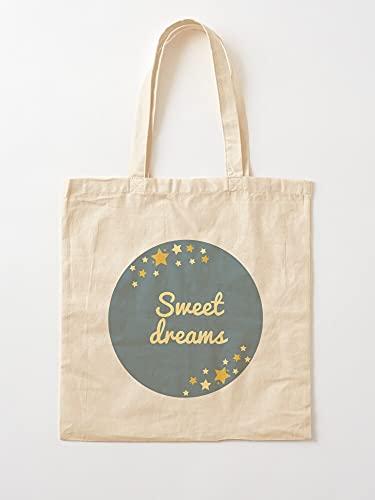 Good Sweet Stars Night Sleepy Sky Sleep Well Dreams | Einkaufstaschen aus Segeltuch mit Griffen, Einkaufstaschen aus robuster Baumwolle