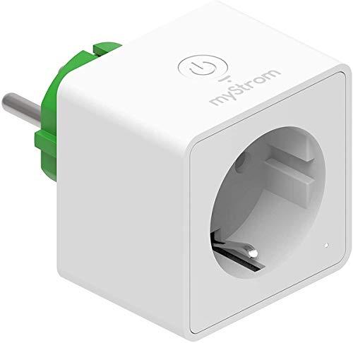 myStrom WiFi Switch, schaltbare Steckdose, misst Stromverbrauch & -Erzeugung, keine Bridge nötig, App, Sprachsteuerung mit Alexa & Google Home, IFTTT