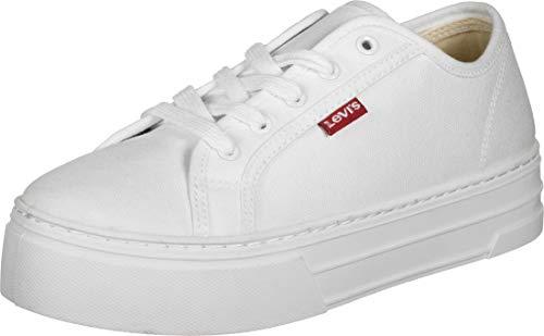 Levi's Damen Tijuana Sneaker, Weiß (B White 50), 38 EU