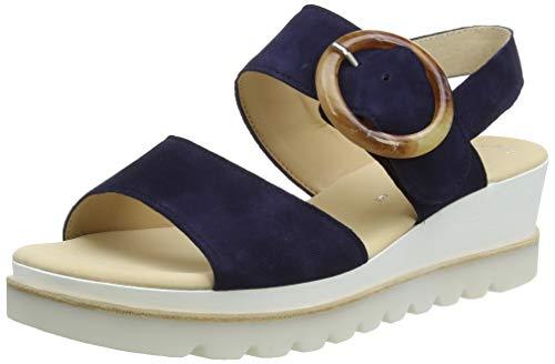 Gabor Shoes Damen Casual Riemchensandalen, Blau (Bluette (Natur) 16), 38 EU