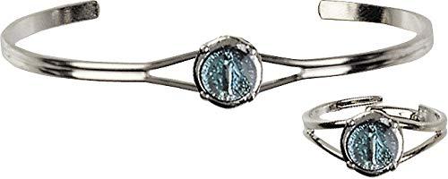 バングル リング セット ブルーエナメル 不思議のメダイ アメリカ製 指輪 ブレスレット