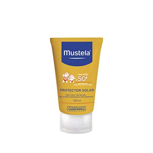 Mustela Fluido Protector Solar Corporal, Alta Protección para Todo Tipo de Piel, 100 ml