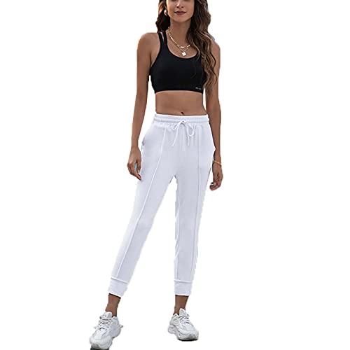 WJANYHN Pantalones Casuales con Cordones Deportivos para Mujer con Calzado