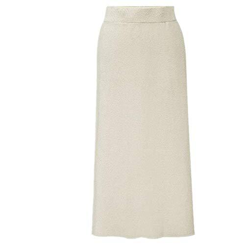 N\P Otoño Invierno De Punto De Las Mujeres Faldas De Gran Tamaño De La Cintura Elástica Split Una línea De Faldas Femenino Más El Tamaño