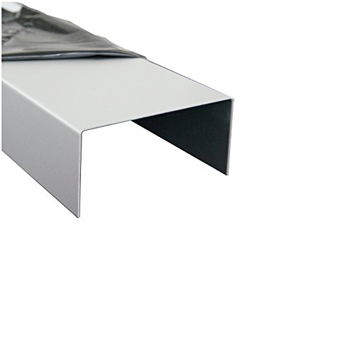 2000mm Aluminium U-Profil 20x40x20mm Kantenprofil aus 1 mm Aluminium silber natur eloxiert Abdeckprofi