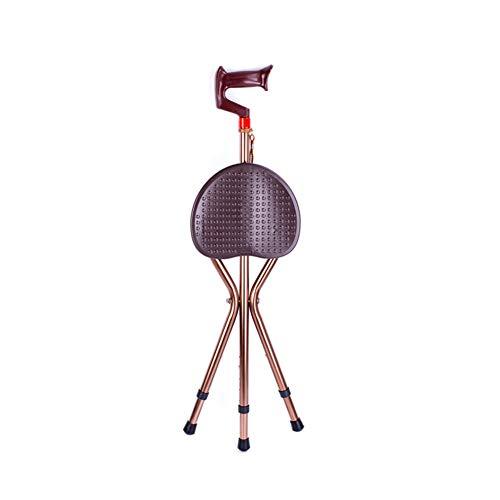 MOXIN Canne siège trépied Pliable,Hauteur Ajustable, combinés pour Plus de Soutien et de Confort, léger, Se Plie Facilement, Aide à la mobilité pour Personnes âgées ou handicapées