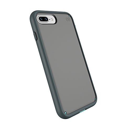 spec iphone 7 plus cases Speck Products Compatible Phone Case for Apple iPhone 8 Plus/iPhone 7 Plus, Presidio Ultra Case, Sand Grey/Surf Teal/Mountainside Grey