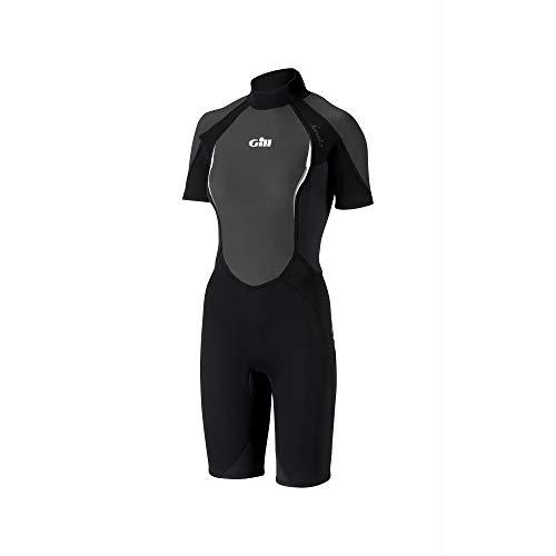 Gill Ladies Siren 3/2mm Shorty Wetsuit BLACK 4603W Sizes- - Ladies 10