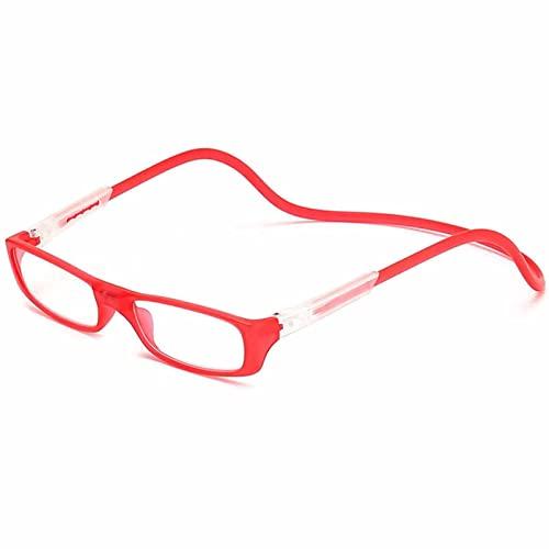 YSDQ Gafas de Lectura para Hombres y Mujeres, Gafas de conexin Frontal Gafas de Lectura magnticas Lectores magnticas y Ajustables para Colgar en el Cuello