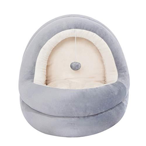KANUBI Haustier Nest, niedliche Jurte Haustier Nest geschlossen, sowie Samt warmes Haustier Nest