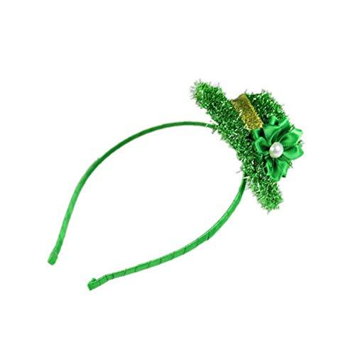 1 diadema para el da de San Patricio, duende de espumilln con flor para decoracin de fiesta de San Paricks., A