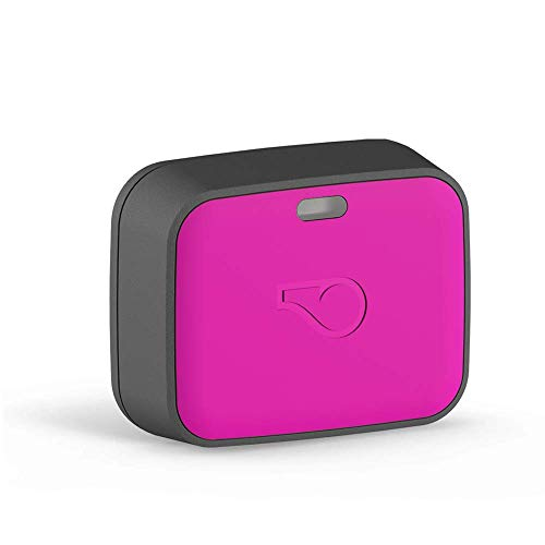 Whistle GO Explore - Ultimate Health & Location Tracker for Pets - Waterproof GPS Pet Tracker, Built-in Night Light, 20 Day Battery, Pet Fitness Tracker fits on Collar or Harness - Magenta