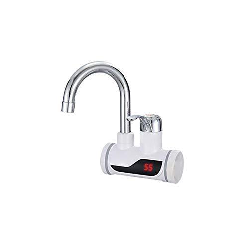 Elektrische Warmwasserbereiter Wasserhahn Einstellbare Leistung Professional Elektrischer Wasserhahn,Durchlauferhitzer Sofortiger Mit LCD-Temperaturanzeige Für Küche Und Bad, 3000W