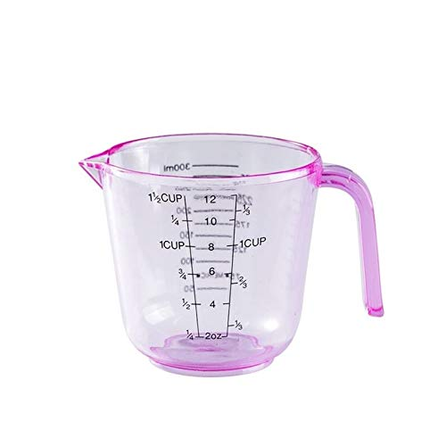 150 / 300ml Copa de medición de la escala de plástico Herramientas de medición de la cocina para hornear access de herramientas de la cocina que miden las tazas para hornear