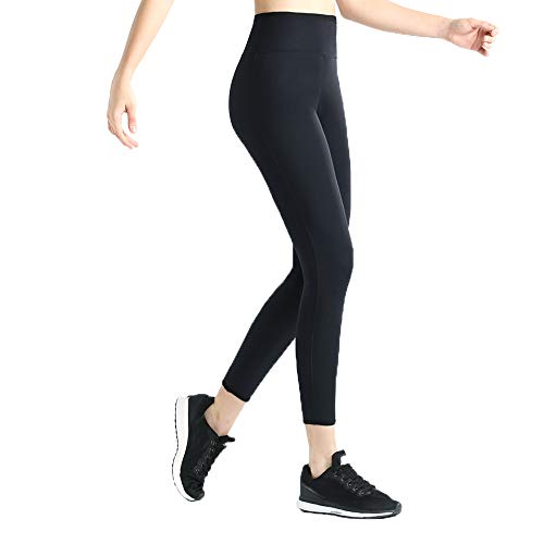 Moonssy Pantalones para Adelgazar,Pantalones Deportivos Mujer, Pantalón de Sudoración Adelgazar, Leggings Push Up, Mallas Termicos de Neopreno, Faja Reductora Adelgazante para Deporte (L)