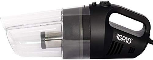 iGRiD Car Vacuum Cleaner with Stainless Steel HEPA Filter (12V) Black   BL1010-B  