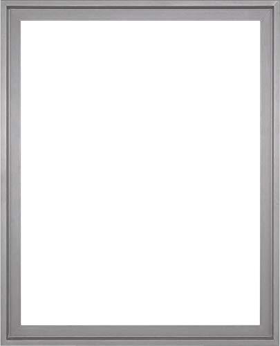 MDF-Leerrahmen ASTURIEN speziell für Leinwandbilder BZW. Keilrahmenbilder im Format 46 x 55 cm. Schattenfugenrahmen in der Farbe: Silber. 10 Farben zur Auswahl