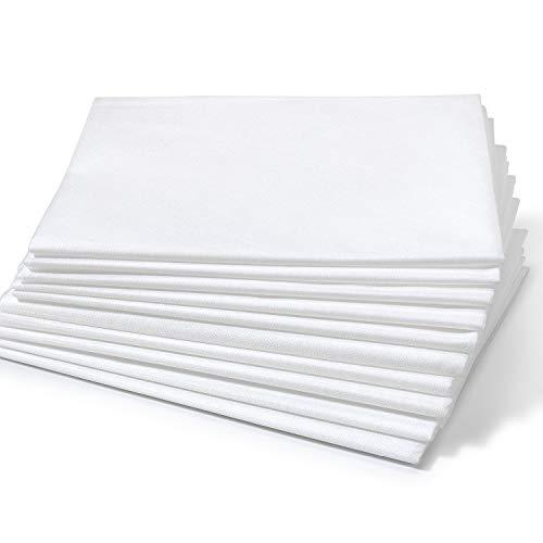 Dr. Güstel Waschfaserlaken ® PLUS weiß 120x210 cm 5er Pack Vlieslaken STANDARD 100 by OEKO-TEX®-zertifizierte Auflagen für Massageliegen Kosmetikliegen Behandlungsliegen